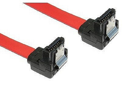 SATA Revision 2.0 Locking Data Cables Right to Right