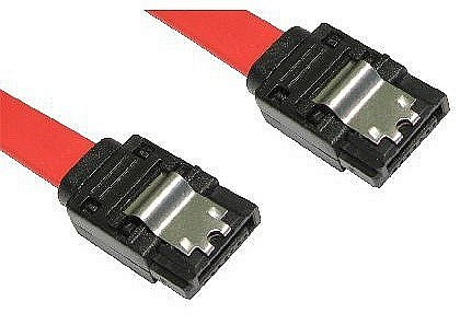 SATA Revision 2.0 Locking Data Cables Straight to Straight