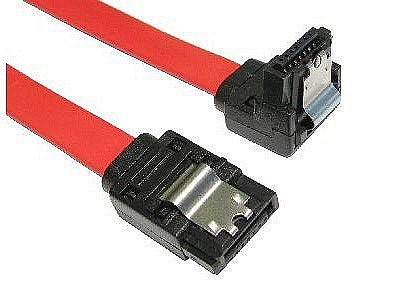 SATA Revision 2.0 Locking Data Cables Straight to Right