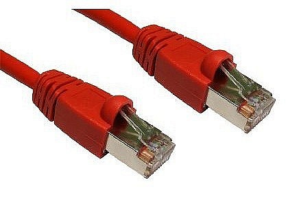 Red Cat6 Snagless Shielded Network Cables